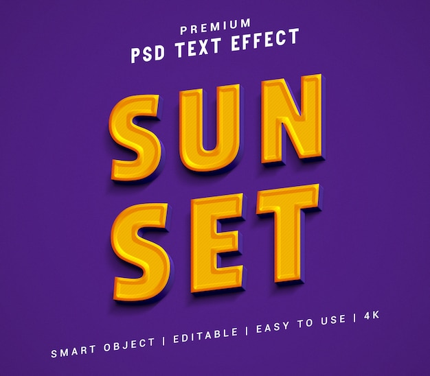 Sun set text effect generator