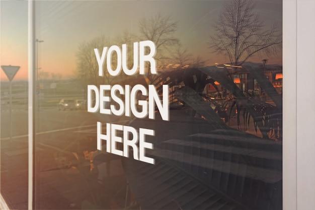 Sunset logo maqueta de windows