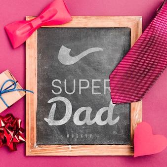 Super dad frame met mock-up concept