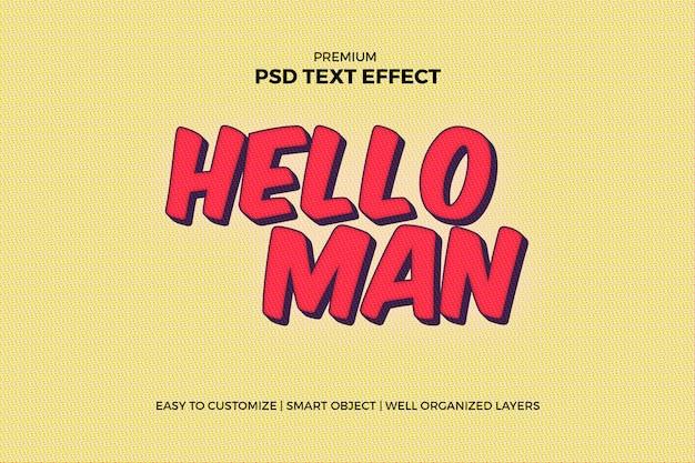 Super held komisch teksteffect