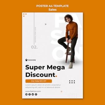Super mode korting poster sjabloon