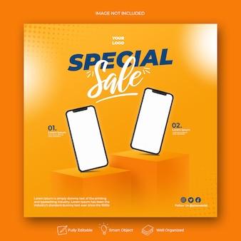 Super sale speciale aanbieding promotie voor instagram ontwerpsjabloon