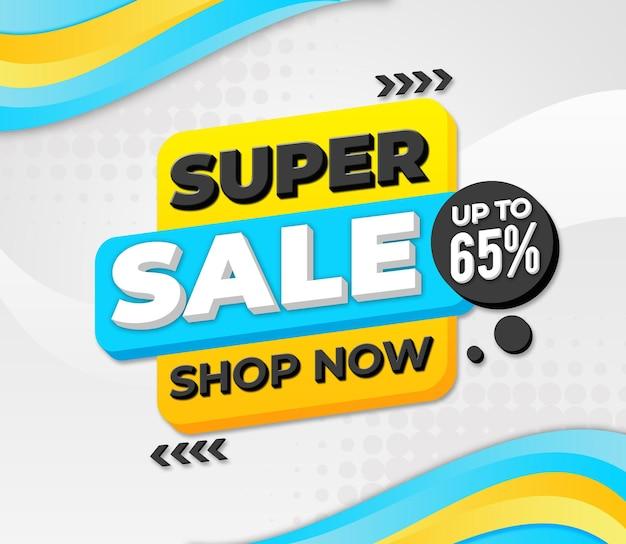 Super sale tot 65 met witte achtergrond