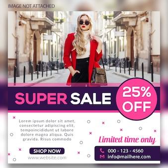 Super verkoop sociale webbanners