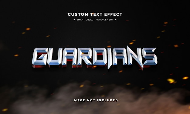Superheld 3d-tekststijleffect