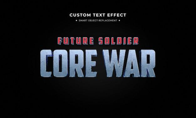 Superheld film 3d tekststijl effect