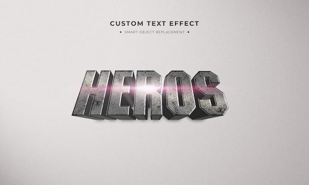 Superhero effetto testo in stile 3d