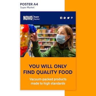 Supermarkt concept poster sjabloon