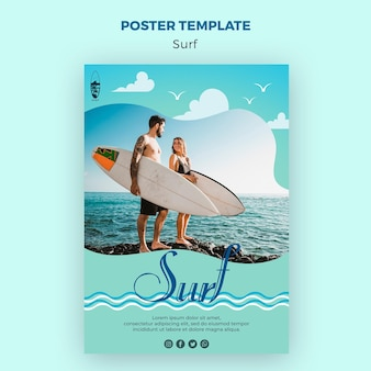 Surf concept poster sjabloon
