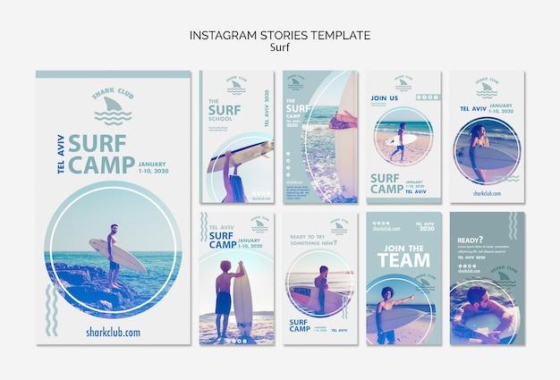 Surf instagram verhalen sjabloon