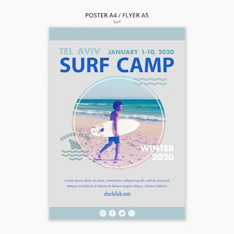Surf poster sjabloon thema