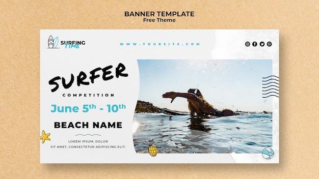 Surfer banner sjabloon concept