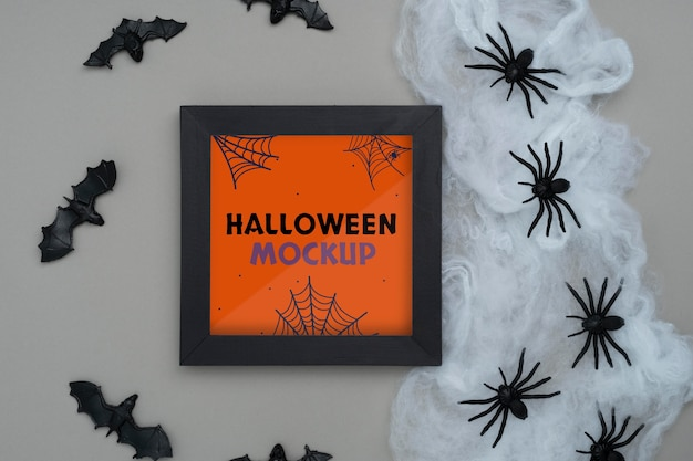 Surtido de maquetas de borde de halloween