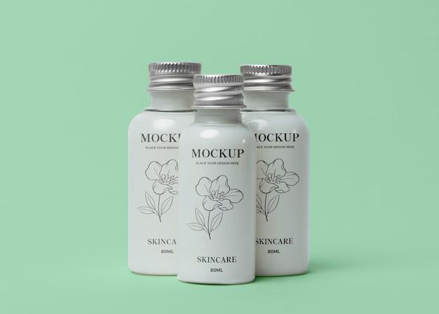 Surtido de maquetas de envases cosméticos