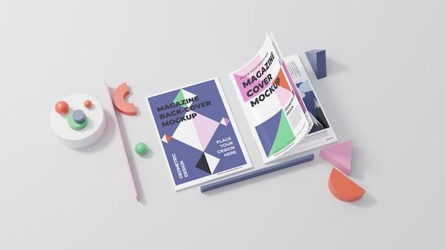 Surtido de maquetas de revistas minimalistas