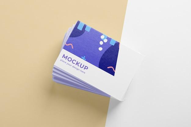 Surtido de maquetas de tarjetas de visita de patrones