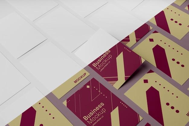 Surtido de maquetas de tarjetas de visita