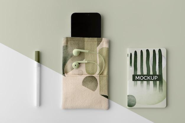 Surtido de productos de merchandising abstracto