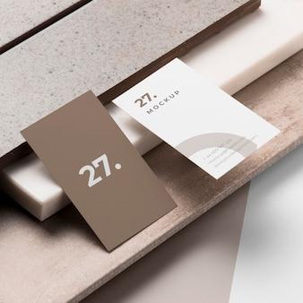 Surtido de tarjetas de presentación de maquetas