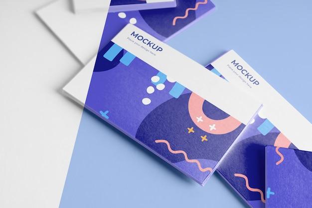 Surtido de tarjetas de visita de patrones