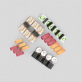 Sushi 3d render