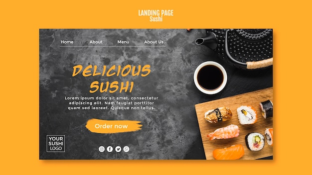 Sushi-bestemmingspagina
