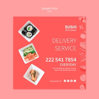 Sushi flyer sjabloon concept