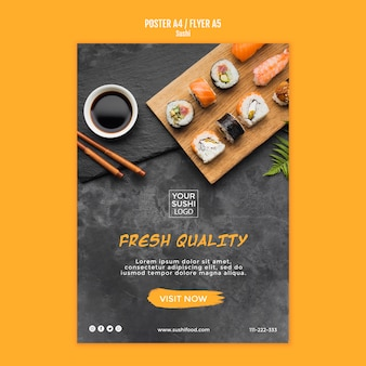 Sushi poster sjabloonontwerp