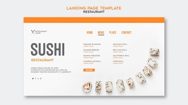 Sushi restaurant sjabloon