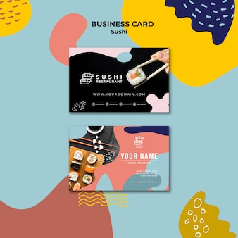 Sushi restaurant visitekaartje