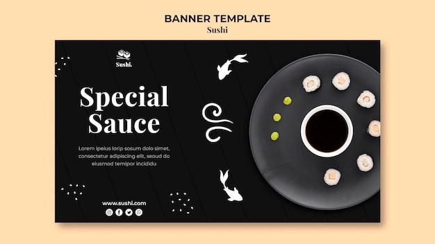 Sushi sjabloon voor spandoek met foto