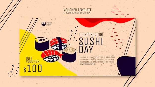 Sushi voucher sjabloon