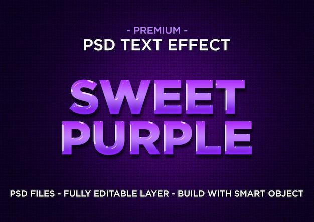 Sweet purple premium photoshop psd-stijlen teksteffect