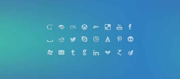 Symbolen psd sociale pictogrammen