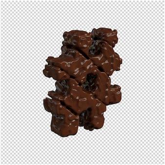 Symbool gemaakt van chocolade.