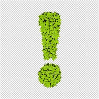 Symbool gemaakt van groene bladeren