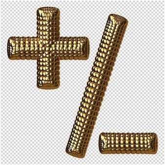 Symbool van gouden bollen 3d-rendering