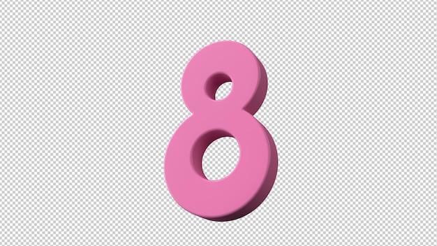 Symbool van internationale vrouwendag in 3d-rendering
