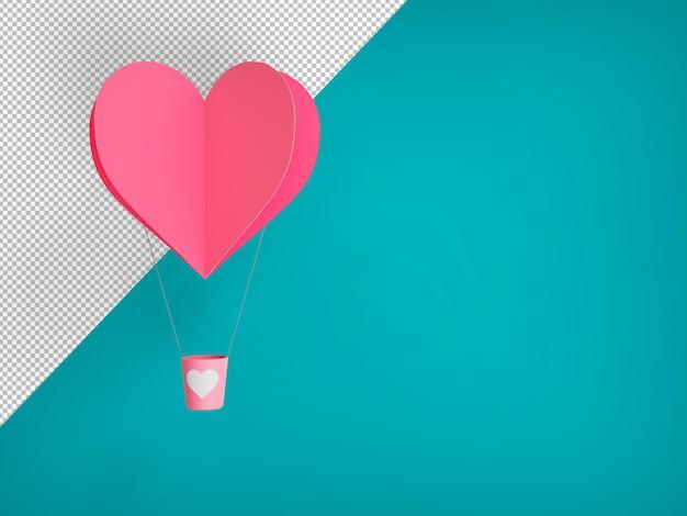 Symbool van liefde op zoete klantgerichte kleurenachtergrond