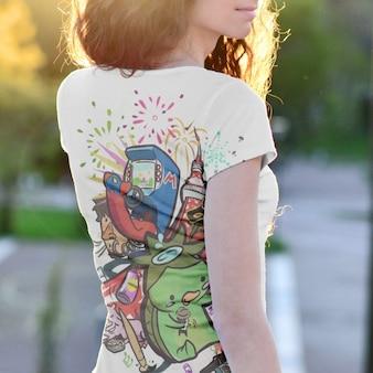 T-shirt mock up di progettazione