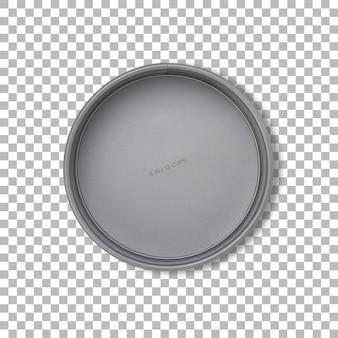 Taart bakvorm geïsoleerd met transparante achtergrond.