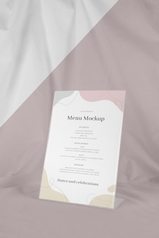 Tabel menu mock-up