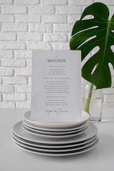 Tabel menuweergave mock-up