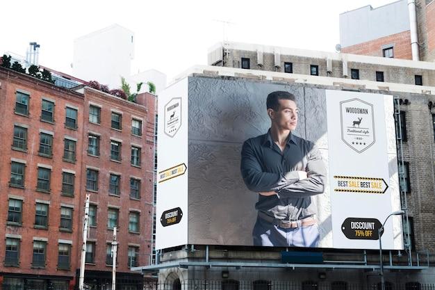 Tabellone per le affissioni in città mock-up