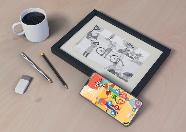 Tabled moderno progettato per il lavoro da casa