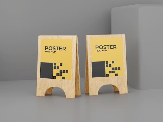 Tablero triangular de maqueta de póster