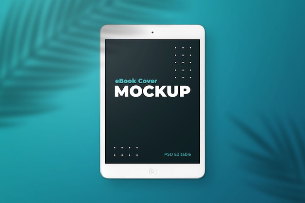 Tablet ebook cover mockup