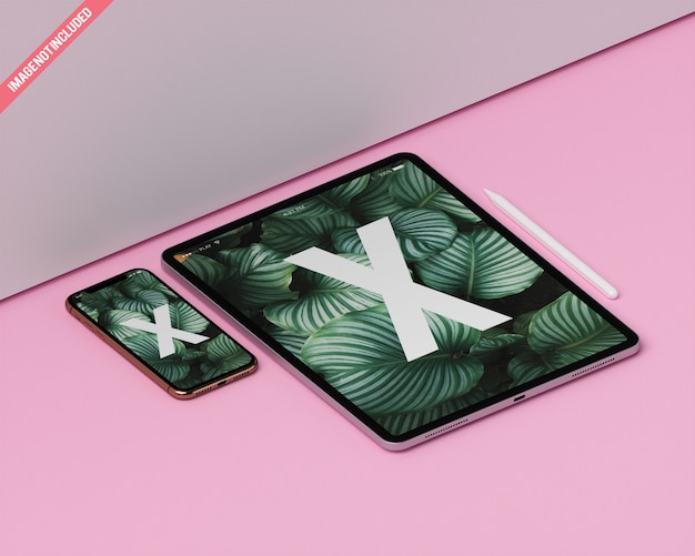 Tablet en mobiel model