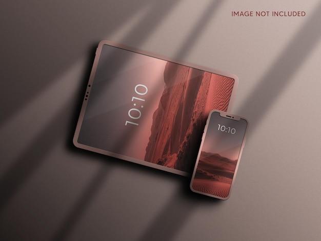 Tablet- en smartphonemodel met merkidentiteit