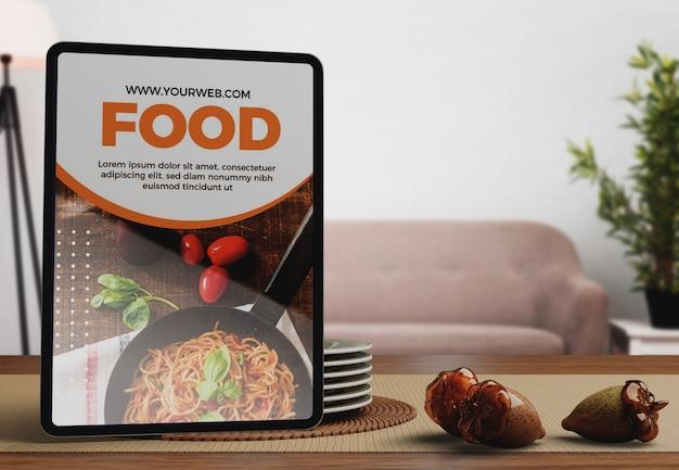 Tablet met thanksgiving dayontwerp